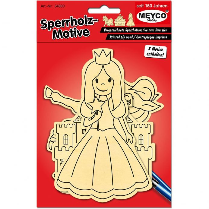 Girl's Plywood Figures - Set of 3   (Item 34800)
